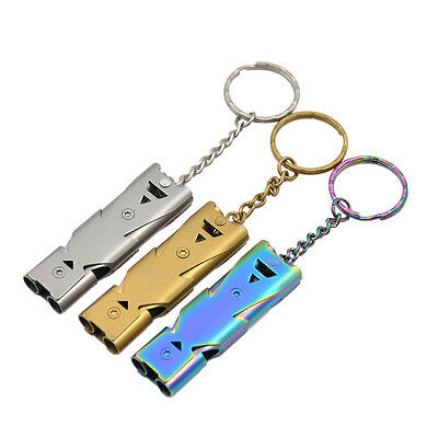 Stainless Double Tube Whistle Outdoor Survival Wild Pet Trainer Women Security