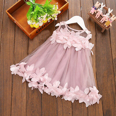Newborn Infant Baby Kids Girls Princess Dress Party Gown Casual Dresses 0-3Y Hot