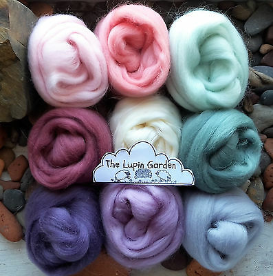 Merino, Shetland, Silk , Wool roving/ tops / needle felting, fibre art 90g