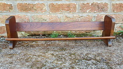 Beautiful Antique Art Deco Era Oak Book Rack/Trough/Bookends/Stand Very Stylish