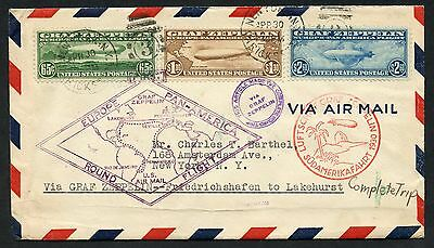 #c13-C15 On First Europe Pan-Am Round Trip Cover (Seiger 64D2) Wlm3152