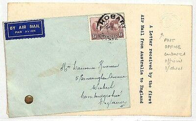 LL260 Australia England First Air Mail Cover {samwells-covers}