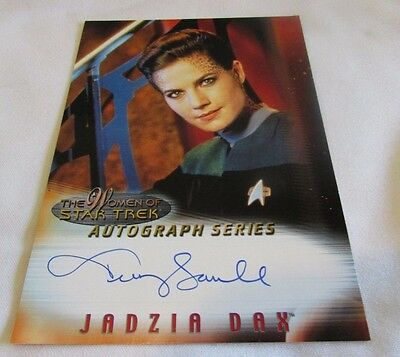 Star Trek; Women Of Star Trek In Motion Autograph A5 Lt Commander Jadzia Dax