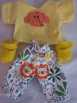 CPK doll clothes/16-18 inch/baby animal print pants/yellow t-shirt/shoes