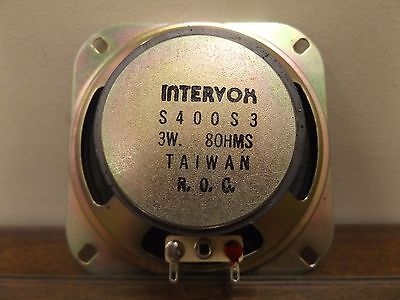 "SPEAKER INTERVOX S400S3 3 WATT 8 OHM 4"" ( look at magnet size in picture)"