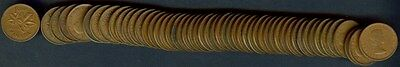 Canada 1956 Small Cents Cents  1 Rolls (52 Coins)