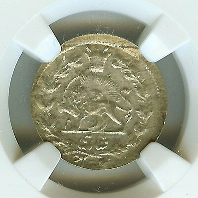 Middle Eastern Ah1039 (1901) Silver Shahi -Km#965, Error Date- Ngc Ms64 Rare!