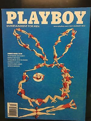 Playboy Magazine 2013 July/ August Issue Cover Syncranize Swim