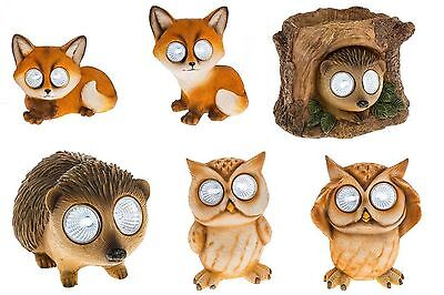 Bright Solar Eyes Fox Owl Hedgehog Animal Lover Gift Garden Patio Ornament Light