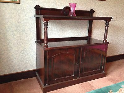 Sideboard, antique mahogany two-tier, very good condition