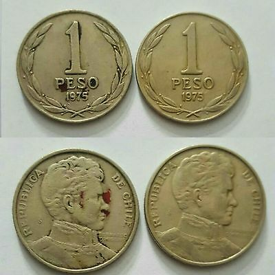 Chile 2 coins set 1975