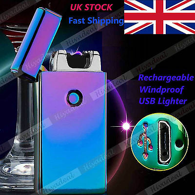 Electric Rechargeable Lighter Arc Flameless USB Cigarette Windproof Lighter