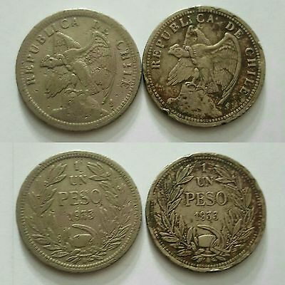 Chile 2 coins set