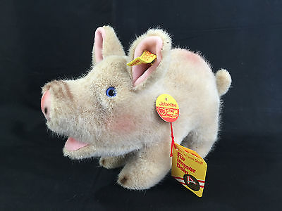 "Steiff Pig ""Jolanthe"" Gold button Yellow tag #3810/17 w tags **NICE**"