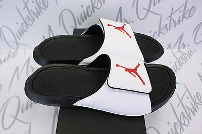 e42879efd NIKE AIR JORDAN Hydro 6 Vi Sz 10 White Gym Red Black Slide 881473 ...