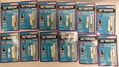 Lot Of 12 Rear View Mirror Adhesive Glue - Hammer Head