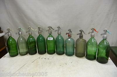 8807. 10 alte Sodaflaschen Siphonflasche Old soda siphon seltzer