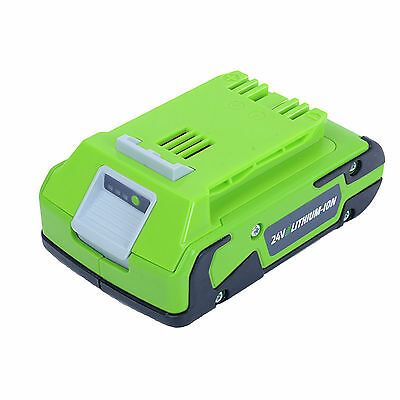 Garden Power Tools Cordless Lithium-Ion Battery 2Ah Lawn Greenworks 24V