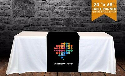 "Custom Trade show table runner 24"" x 68"" for event and Exhibitions"