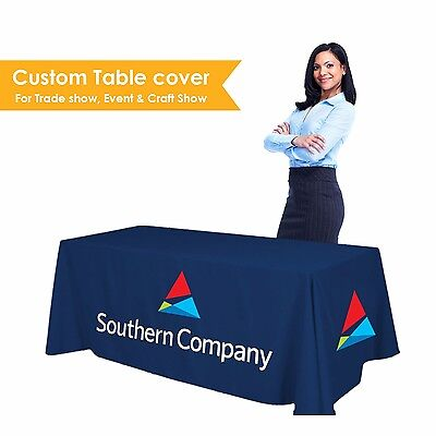 Custom Table Cover for Trade Show 6 ft Tablecover Full Color 3 Sided Tablecloth