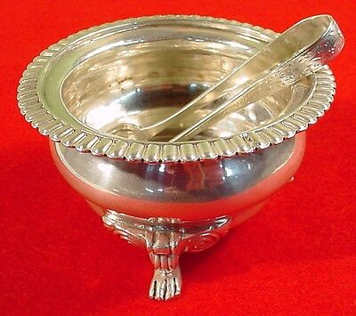 Vintage Mappin & Webb Sterling Silver Footed Sugar Bowl~1902 London W/Tongs