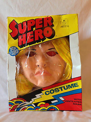 Vintage 1970s Ben Cooper Halloween Costume BIONIC WOMAN Childs Large