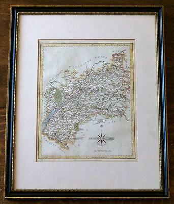 Antique Map Gloucestershire by John Cary 1797 Hand coloured copper engraved Map