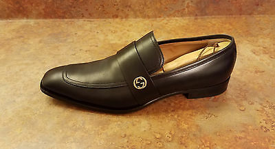 17165eba176 Gucci  Broadwick  Loafer Shoes Black Leather Mens Size 10.5 US 9.5 UK MSRP   695