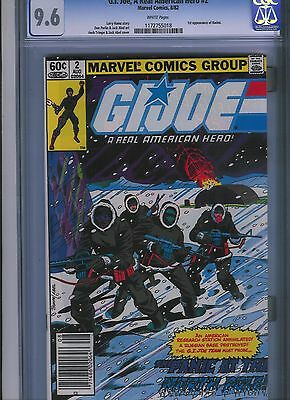 G.I. Joe, A Real American Hero # 2    CGC 9.6  White Pages. UnRestored.