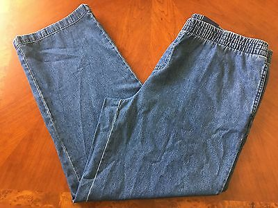 NWT PLUS SIZE womens ladies 18 STRAIGHT LEG STRETCH JEANS RELAXED FIT blue pants