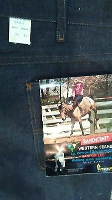 Vintage NWT JC PENNEYS RanchCraft Jeans 36X34  60's NOS