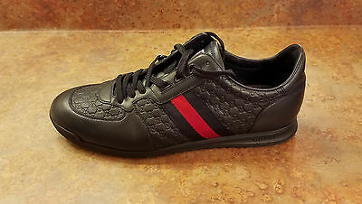 38d17298041a6 GUCCI 'SL 73' Blue Leather Low Top Sneakers Mens Size 11 US 10 UK ...
