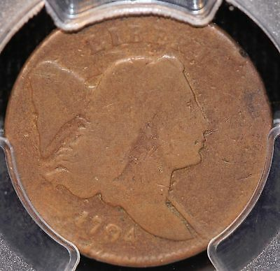 Rare 1794 Half Cent, C-4A Small Edge Letters Variety, Pcgs G6, 3-Day Return