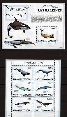 Comores 2009 - Les Baleines - Whales Fish Sea World Marinelife M/s + S/s Mnh** D