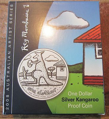 """2008 1 OZ SILVER KANGAROO PROOF """"holiday special $65.00"""""""