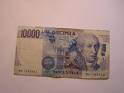 Italian Circulated Banknote 10000 Lire