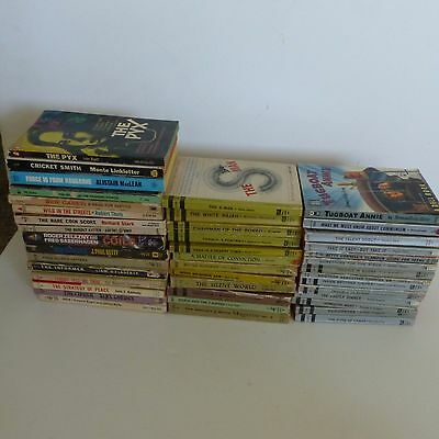 Lot Of 40 Vintage Paperback Books Pulp Fiction Mystery History Comic ++