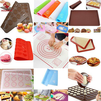 Multi Silicone Cooking Mat Non Stick Heat Resistant Liner Oven Baking Tray Sheet