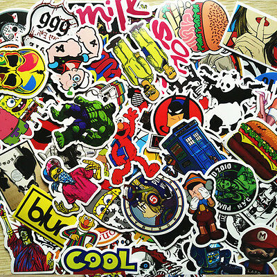 Lot 300 PCS Random Skateboard Stickers Luggage Car Laptop Decals bomb Vinyl Mix
