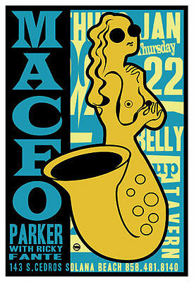 Scrojo Maceo Parker Ricky Fante 2004 Poster Belly Up Tavern MaceoParker_0401