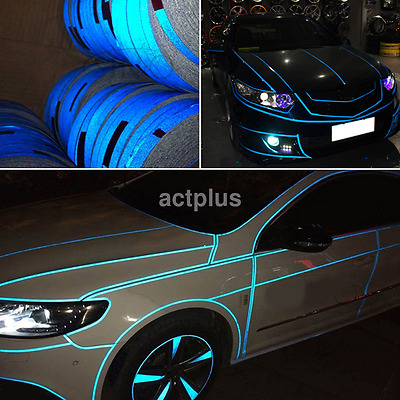 Car Reflective Body Self-Adhesive 2cmx5m Glow in the Dark Strip Vinyl Neon Tape
