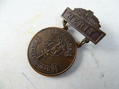 Antique Medal Wisconsin Health Guard Anti-Tuberculosis 1917 Christmas Seal Pin
