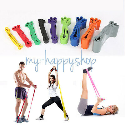 Elastic Pilates Yoga Resistance Band Loop Strength Weight Body Ankle Tube Bands