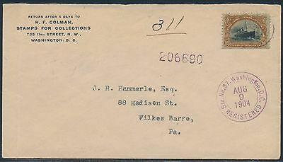 #299 On Cover Stamp Dealer With St. Louis World's Fair Label Bt7514