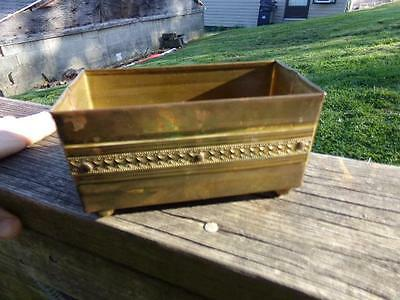 Vintage Hand Wrought & Soldered Copper Color Box - Well Made