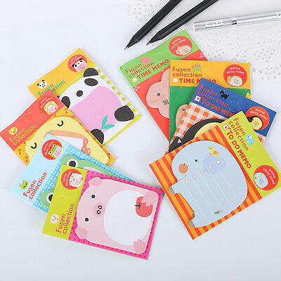 5pcs Cute Cartoon Forest Animal Memo Pad Sticky Note Post Page Marker Planner