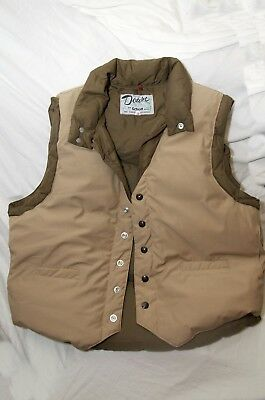 Vintage Down By Schott Nyc Insulated Puffer Vest Sz 48 Hunting Camping Western