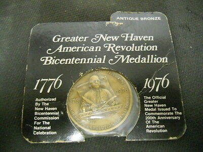 Vintage Greater New Haven American Revolution Bicentennial Medallion 1976
