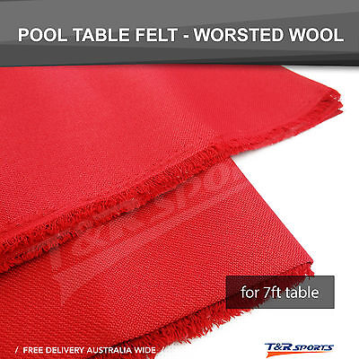 Red Professional Worsted Fast Speed Pool Table Felt Billiard Cloth for 7' Table