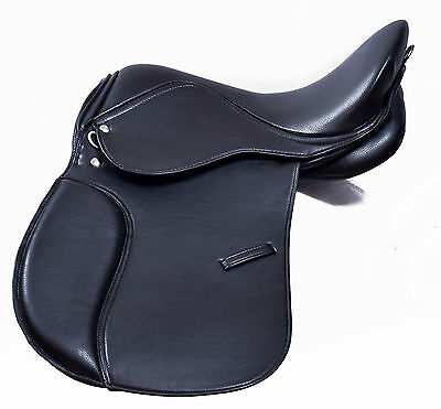 Synthetic General Purpose Halflinger Saddle Wide fit Premium Quality 16, 17 & 18